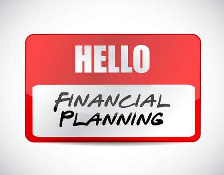financial emergency: financial planning name tag sign concept illustration design graphic Illustration