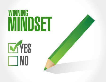 self development: winning mindset approval sign concept illustration design graphic icon Illustration