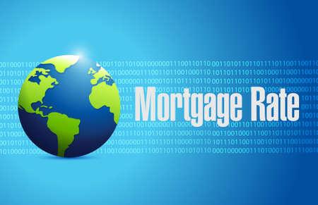 mortgage rates: mortgage rate international sign concept illustration design graphic icon Illustration
