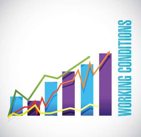 financial condition: working conditions graph sign concept illustration design graphic Illustration