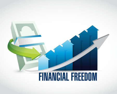 financial graph: financial freedom business graph sign concept illustration design graphic