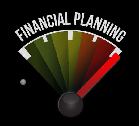 financial emergency: financial planning meter sign concept illustration design graphic Illustration