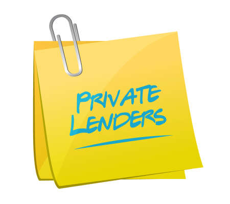 lenders: private lenders memo post sign concept illustration design graphic