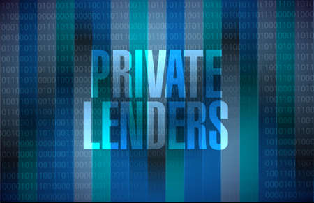 lenders: private lenders binary background sign concept illustration design graphic