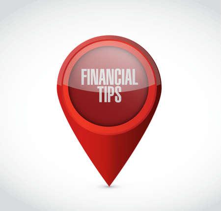 pointer: financial tips pointer sign concept illustration design graphic