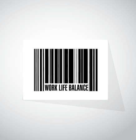 life balance: work life balance barcode sign concept illustration design