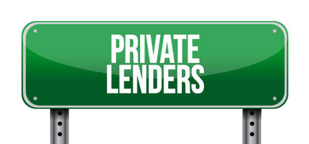 private lenders street road sign concept illustration design graphic