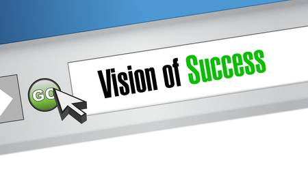 marketanalyze: vision of success website concept illustration design graphic Illustration