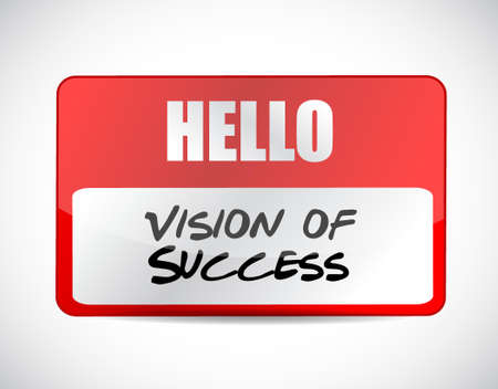atop: vision of success name tag sign concept illustration design graphic