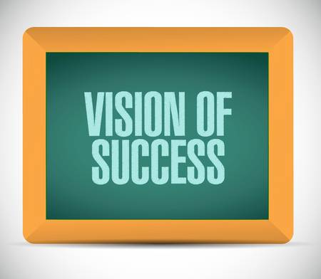 atop: vision of success board sign concept illustration design graphic