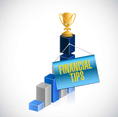 financial advice: financial tips business graph sign concept illustration design graphic