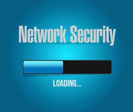 up code: network security loading bar sign concept illustration design graphic