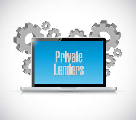 private lenders technology computer sign concept illustration design graphic