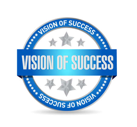 atop: vision of success seal sign concept illustration design graphic