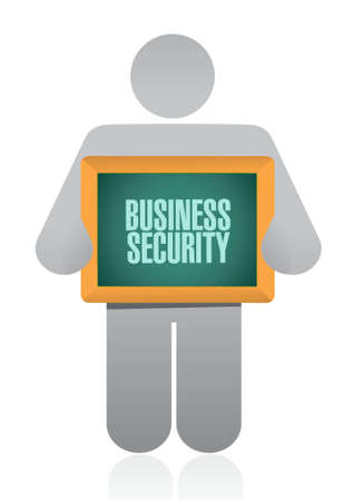 Business security board sign concept illustration design graphic