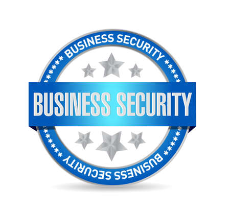 electronic security: Business security seal sign concept illustration design graphic