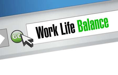 life balance: work life balance website sign concept illustration design