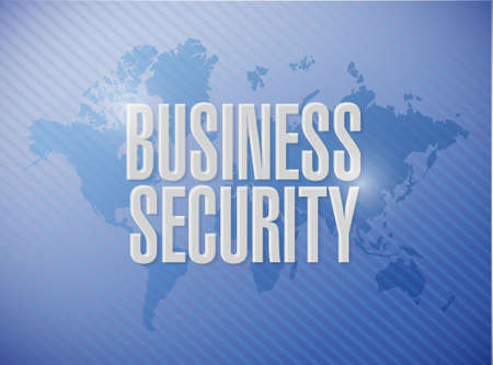 hack: Business security world map sign concept illustration design graphic