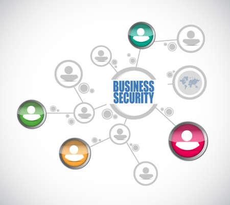 network diagram: Business security network diagram sign concept illustration design graphic