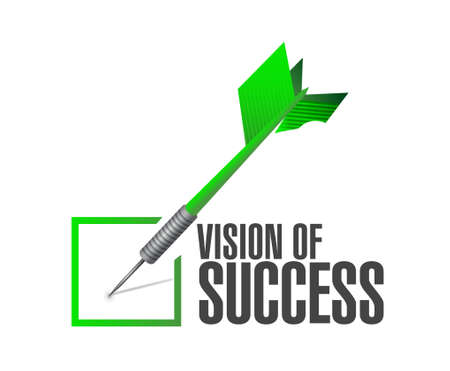 marketanalyze: vision of success check dart sign concept illustration design graphic