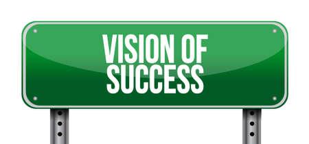 vision of success road sign concept illustration design graphic Illustration