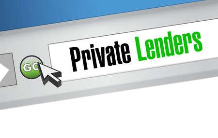 private lenders website sign concept illustration design graphic