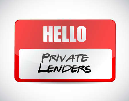 lenders: private lenders name tag sign concept illustration design graphic Illustration