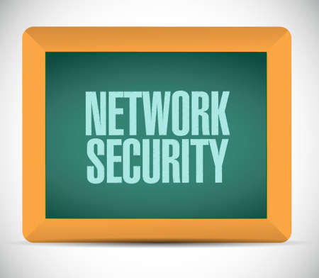 crack up: network security board sign concept illustration design graphic Illustration