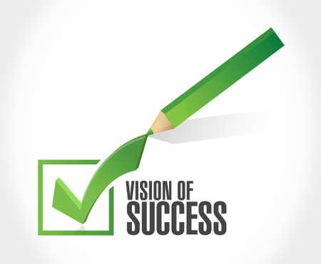 marketanalyze: vision of success check list sign concept illustration design graphic