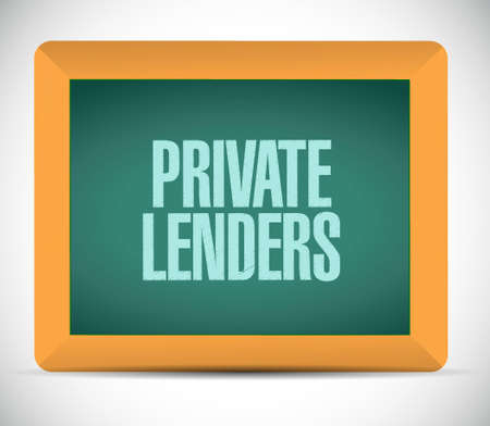 lenders: private lenders board sign concept illustration design graphic