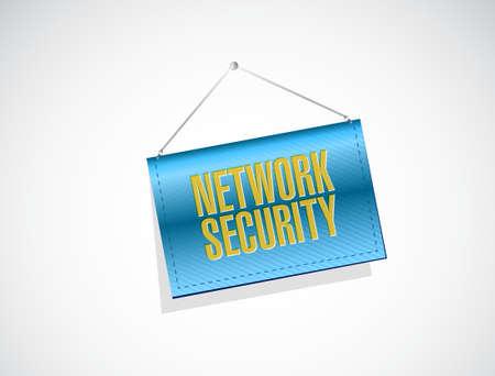 network security banner sign concept illustration design graphic 일러스트