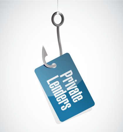 private lenders hook sign concept illustration design graphic