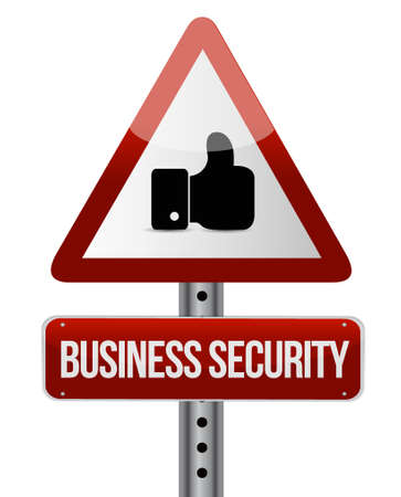 like hand: Business security like hand sign concept illustration design graphic