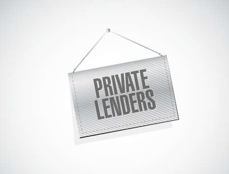 lenders: private lenders banner sign concept illustration design graphic Illustration