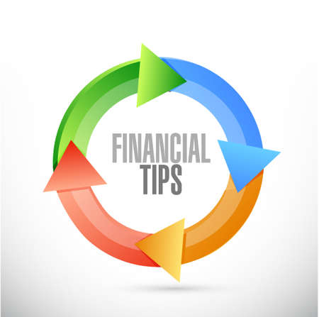 financial cycle: financial tips cycle sign concept illustration design graphic