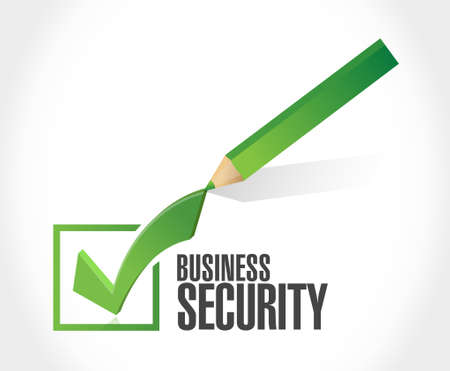 security check: Business security check mark color sign concept illustration design graphic