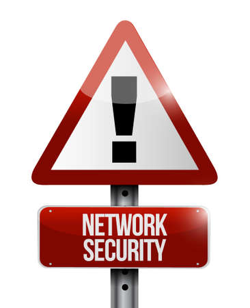 crack up: network security warning road sign concept illustration design graphic Illustration