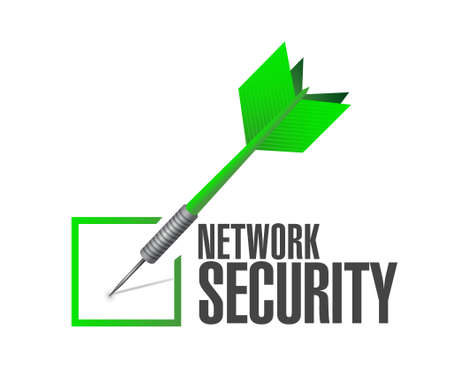 up code: network security check dart sign concept illustration design graphic