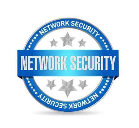 crack up: network security seal sign concept illustration design graphic