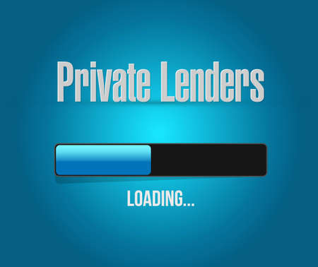 lenders: private lenders loading bar sign concept illustration design graphic