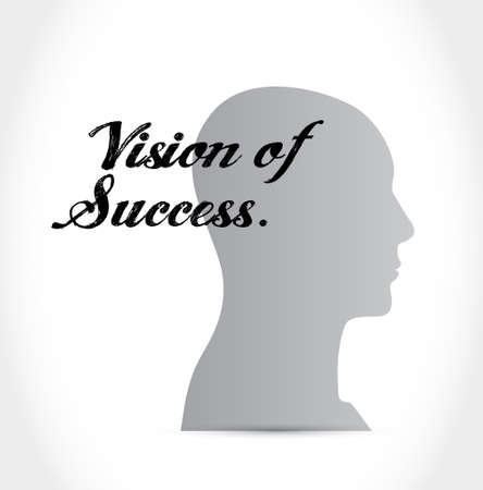 atop: vision of success mind sign concept illustration design graphic