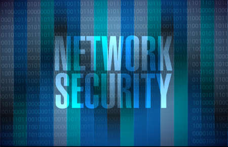 crack up: network security binary background sign concept illustration design graphic