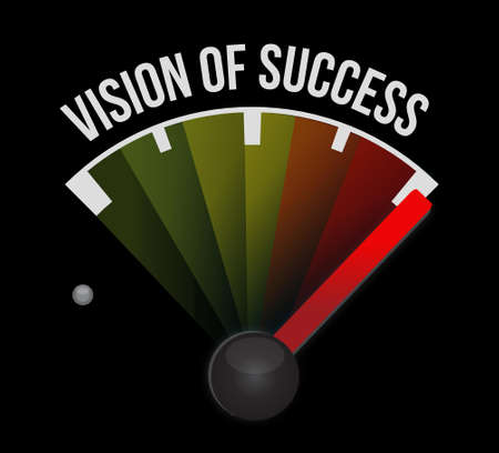 atop: vision of success meter sign concept illustration design graphic