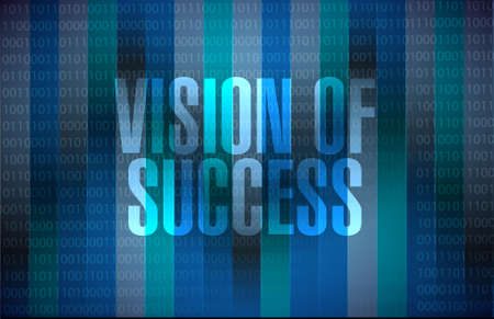 atop: vision of success binary background sign concept illustration design graphic