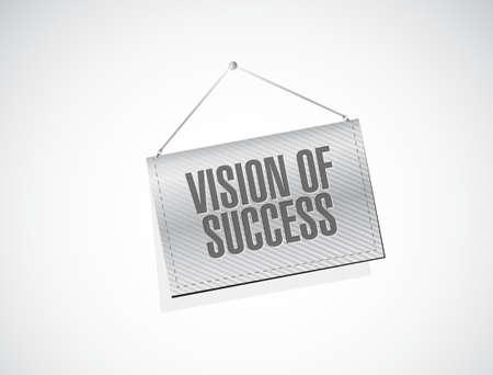 vision of success banner sign concept illustration design graphic Illustration