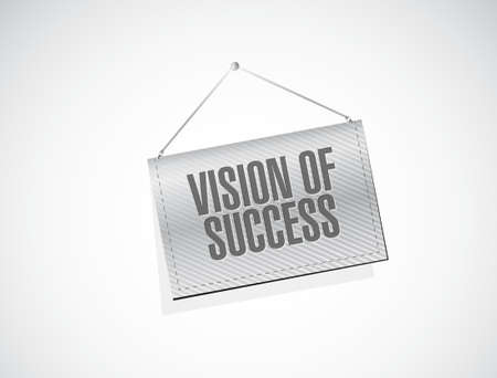 atop: vision of success banner sign concept illustration design graphic Illustration