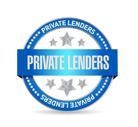 lenders: private lenders seal sign concept illustration design graphic