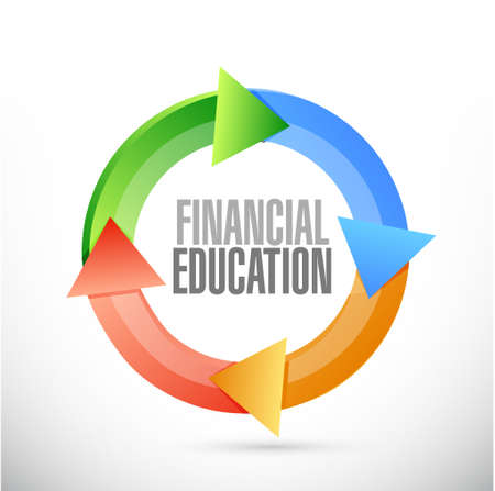 financial cycle: financial education cycle sign concept illustration design graphic