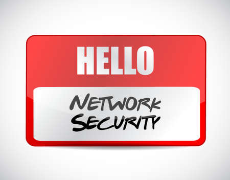 up code: network security name tag sign concept illustration design graphic