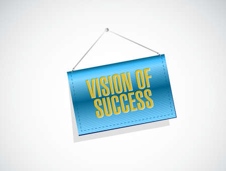 vision of success texture banner sign concept illustration design graphic